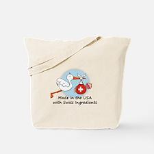 Stork Baby Switzerland USA Tote Bag