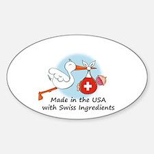 Stork Baby Switzerland USA Decal