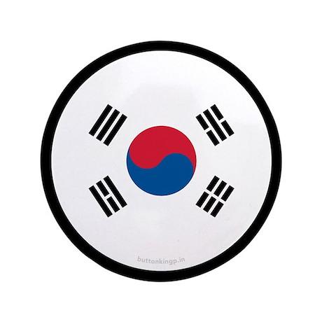 """South Korean Flag 3.5"""" Button (100 pack)"""