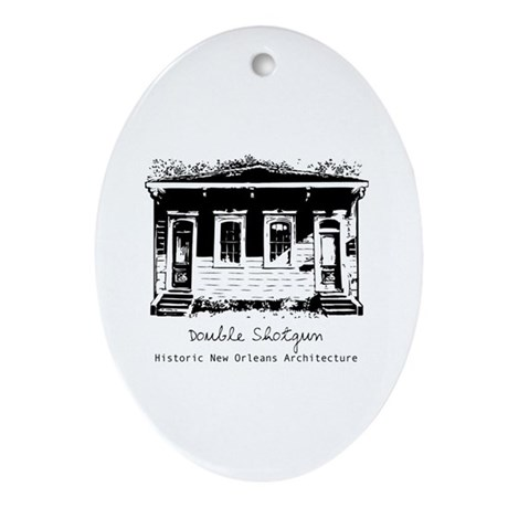 New Orleans Double Shotgun Oval Ornament