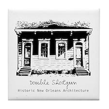 New Orleans Double Shotgun Tile Coaster