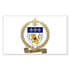 BLAQUIERE Family Crest Decal