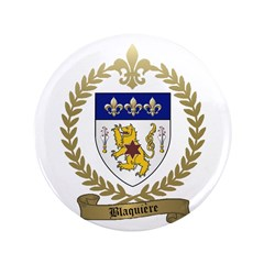 "BLAQUIERE Family Crest 3.5"" Button"