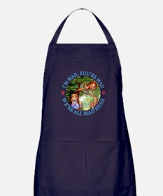 WE'RE ALL MAD HERE Apron (dark)