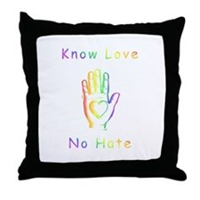Know Love, No Hate Throw Pillow