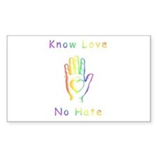 Know Love, No Hate Decal
