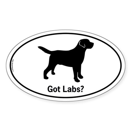 Got Labs? Silhouette Sticker (Oval)