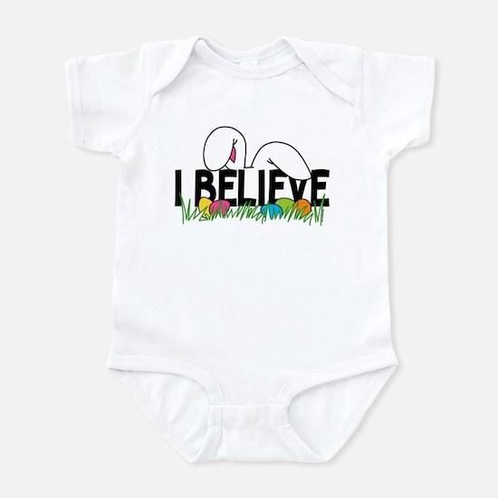 Believe In The Easter Bunny Infant Bodysuit
