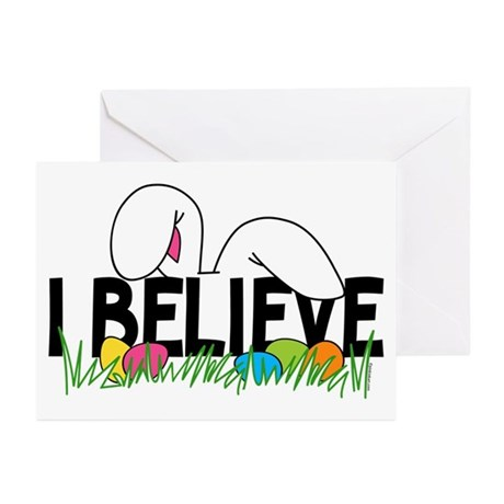 Believe In The Easter Bunny Greeting Cards (Pk of