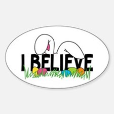 Believe In The Easter Bunny Decal