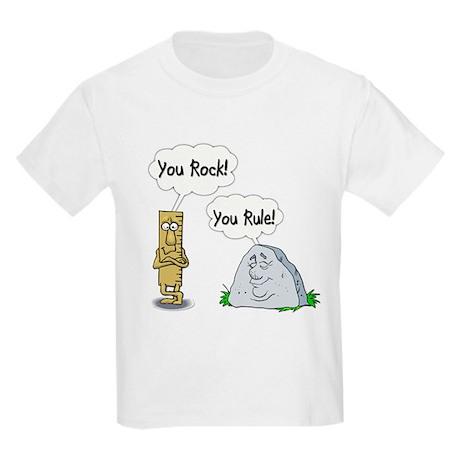 You Rock You Rule Kids Light T Shirt You Rock You Rule T