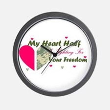 Fighting For your freedom Wall Clock