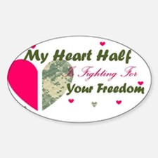 Fighting For your freedom Sticker (Oval)