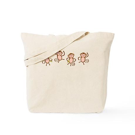 Playful Monkeys Tote Bag