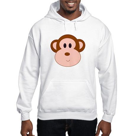 Monkey Portrait Hooded Sweatshirt