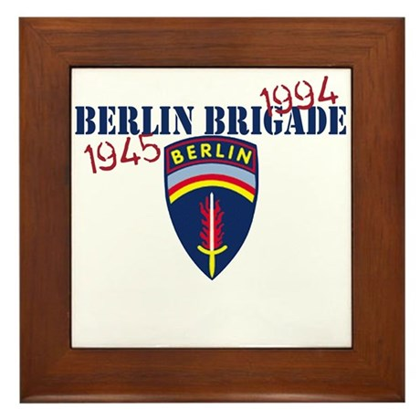 Berlin Brigade 1945-1994 Framed Tile