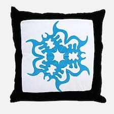 Blue Snowflake Throw Pillow