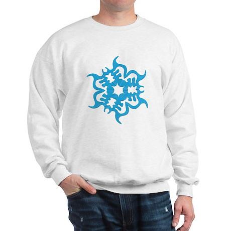 Blue Snowflake Sweatshirt