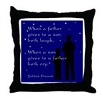 Father Son Throw Pillow
