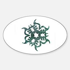 Sea Snowflake Oval Decal