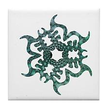 Sea Snowflake Tile Coaster