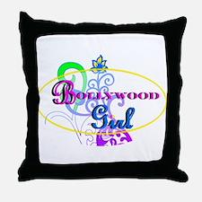 Bollywood Girl! - multi-color Throw Pillow