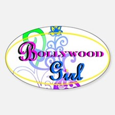 Bollywood Girl! - multi-color Sticker (Oval)