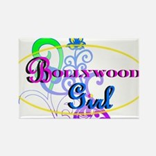 Bollywood Girl! - multi-color Rectangle Magnet