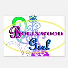 Bollywood Girl! - multi-color Postcards (Package o