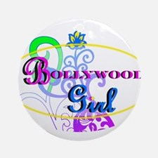 Bollywood Girl! - multi-color Ornament (Round)