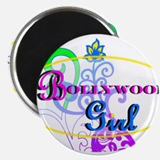 """Bollywood Girl! - multi-color 2.25"""" Magnet (100 pa"""