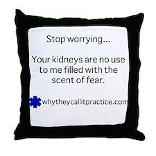 Cool Kidney Throw Pillow
