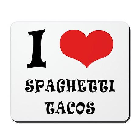 iCarly Spaghetti Tacos Mousepad