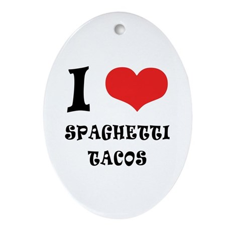 iCarly Spaghetti Tacos Ornament (Oval)