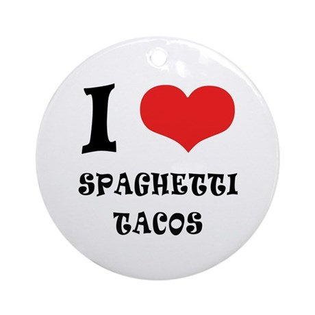 iCarly Spaghetti Tacos Ornament (Round)