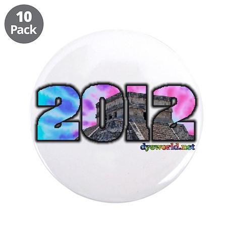 """Mayan Calendar 2012 3.5"""" Button (10 pack)"""