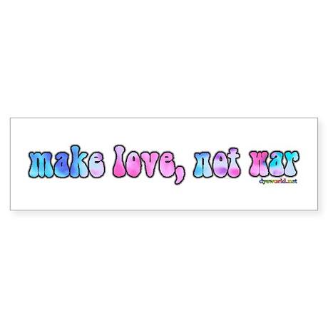 Make Love Not War Sticker (Bumper)