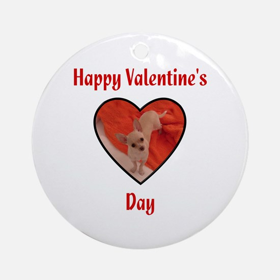 Happy Valentine's Day (chi) Ornament (Round)