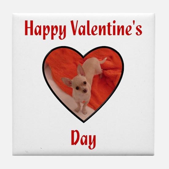 Happy Valentine's Day (chi) Tile Coaster