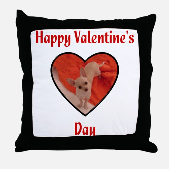 Happy Valentine's Day (chi) Throw Pillow
