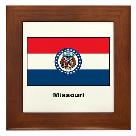 Missouri State Flag Framed Tile