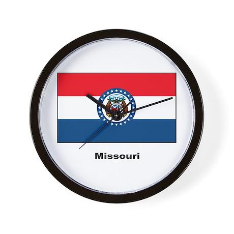 Missouri State Flag Wall Clock