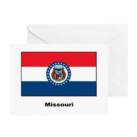 Missouri State Flag Greeting Cards (Pk of 10)