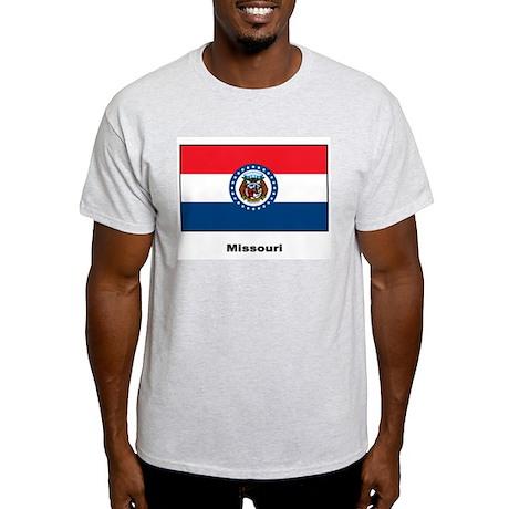 Missouri State Flag Ash Grey T-Shirt