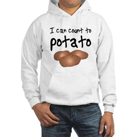 I Can Count to Potato, Hooded Sweatshirt