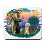 St. Fran. & Bearded Collie Mousepad