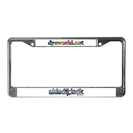 Blue Tie Dye akls License Plate Frame
