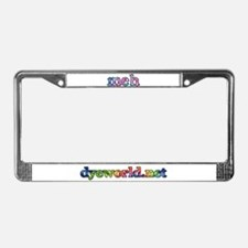 Cotton Candy Tie Dye meh License Plate Frame
