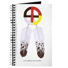 Medicine Wheel w/ Feathers Journal