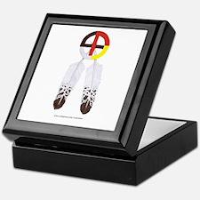 Medicine Wheel w/ Feathers Keepsake Box